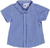 Petit Bateau 'Fortin' Check Shirt (Baby) - Navy/White-3 Months