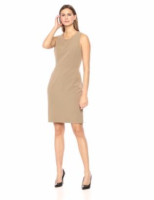 Kasper Women's Jewel Neck Crepe Sheath Dress