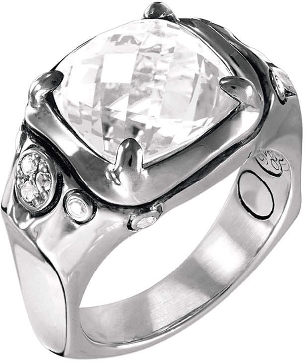 John Hardy Batu Silver Cushion Ring w/ White Topaz, Size 7