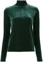 G.V.G.V. Velour turtle neck top - women - Polyester/Polyurethane - XS
