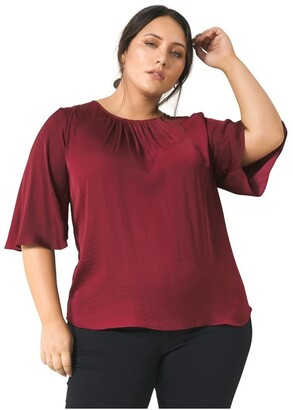 Forever New Curve Jessica Curve Flutter Sleeve Top