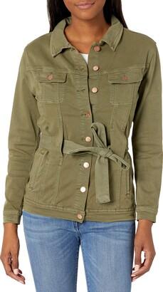 Lola Jeans Women's Jacket with Tie Belt