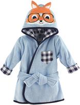 Hudson Baby Nerdy Fox Plush Hooded Bath Robe
