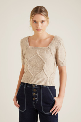 Seed Heritage Square Neck Cable Knit