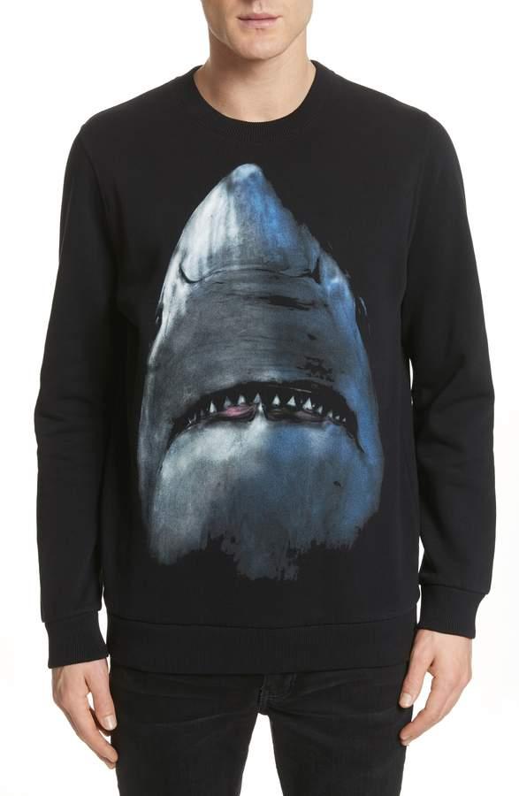Givenchy Shark Print Crewneck Sweatshirt