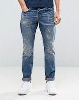 G-star 3301 Tapered Jeans Dark Aged Restored Distressed 86