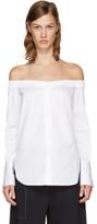 Rag & Bone SSENSE Exclusive White Kacy Off-the-Shoulder Blouse