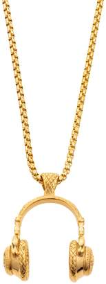 Eye Candy La Jay Music To My Ears Goldtone Titanium Pendant Necklace