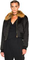 Lanvin Fur Collar Bomber Jacket