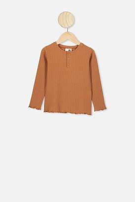 Cotton On Lucy Long Sleeve Henley Top