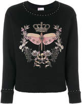 RED Valentino star studded print jumper
