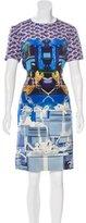 Mary Katrantzou Abstract Print Silk Dress