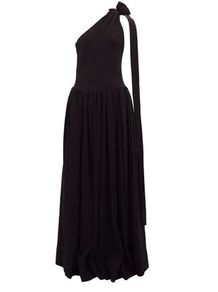 STAUD One-shoulder Ribbed-jersey Maxi Dress - Womens - Black