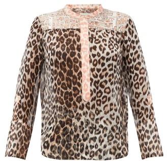 La Prestic Ouiston Romee Leopard-print Silk-mousseline Blouse - Leopard