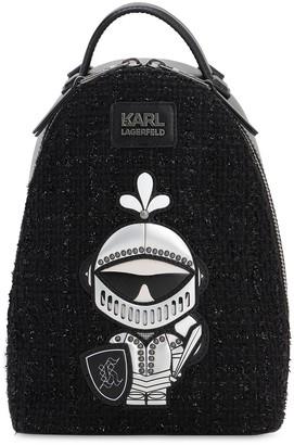 Karl Lagerfeld Paris Treasure Tweed Backpack