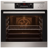 AEG BP501432WM Built-In Multifunction Single Oven, Stainless Steel