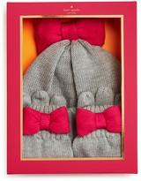 Kate Spade Girls' Bow Hat & Gloves Set