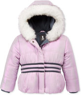 S. Rothschild Iridescent Puffer Jacket with Faux-Fur Trim, Toddler Girls (2-6X) & Little Girls (2-7)