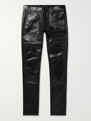 Saint Laurent Skinny-Fit Stretch Coated-Denim Jeans