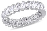 Allura 2.75 CT. T.W. Baguette Cubic Zirconia Angled Eternity Ring in Sterling Silver