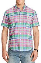 Polo Ralph Lauren Big & Tall Plaid Oxford Short-Sleeve Woven Shirt