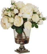 Winward Silks 14 Rose Arrangement in Vase, Faux