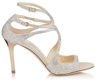 Jimmy Choo Ivette 85 Crystal Sandals