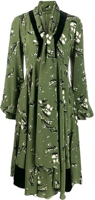 Etro flared printed midi dress