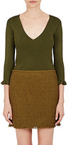 Nina Ricci Women's Rib-Knit V-Neck Sweater