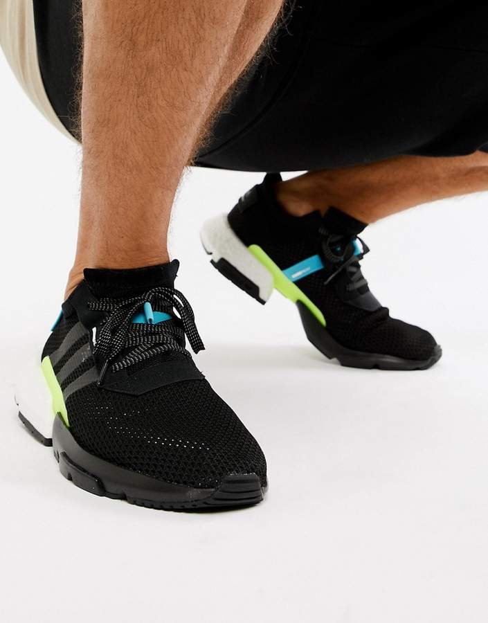 0b934eaf683df adidas Black Chunky Sole Shoes For Men - ShopStyle Australia