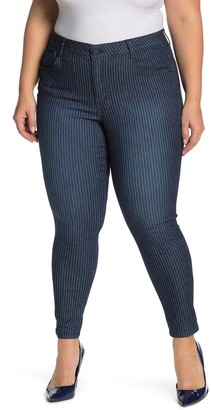 Democracy AB Tech Railroad Stripe Skinny Stretch Jeans (Plus Size)