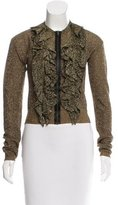 Lanvin Metallic Ruffled Cardigan