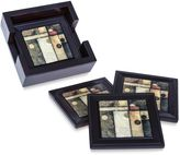 Bed Bath & Beyond Abstract Coasters with Holder (Set of 4)