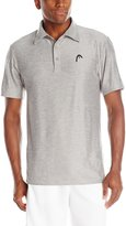 Head Men's Protocol Performance Polo, Grey Heather