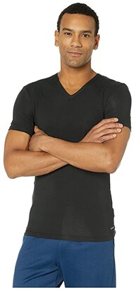 Calvin Klein Underwear Ultra Soft Modal Short Sleeve V-Neck T-Shirt (Black) Men's T Shirt