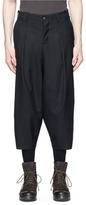 Attachment Drop crotch cropped pants