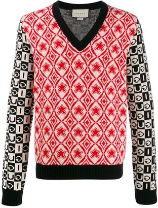 Gucci knitted V-neck jumper
