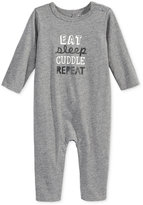 First Impressions Eat Sleep Cuddle Repeat Coverall, Baby Girls & Baby Boys (0-24 months), Only at Macy's