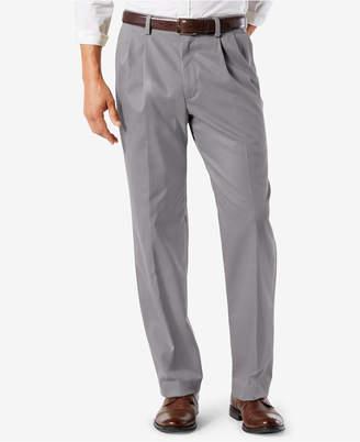 Dockers Men Easy Classic Pleated Fit Khaki Stretch Pants