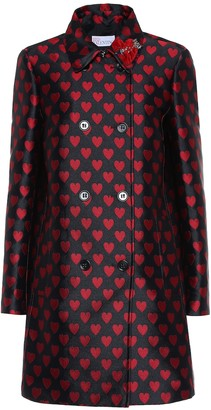 RED Valentino Double-breasted jacquard coat