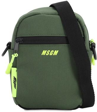 MSGM Logo Tech Canvas Mini Crossbody Bag