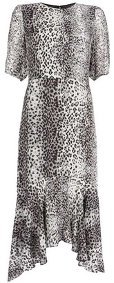 Mint Velvet River Puff Sleeve Midi Dress