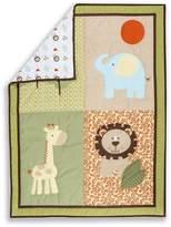 Dream On Me Safari Animals 5-Piece Reversible Portable Crib Set