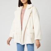 Free People Women's Solid Kate Faux Fur Coat
