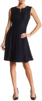 Robbie Bee Sleeveless Lace Fit & Flare Dress