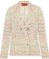 Missoni Metallic Crochet-Knit Jacket