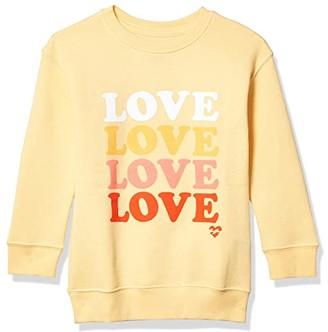 Billabong Kids So Much Love Sweatshirt (Little Kids/Big Kids) (Canary) Girl's Sweatshirt