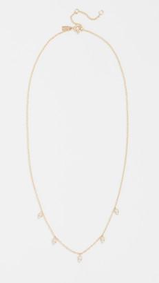 Ef Collection 14k Gold Diamond Multi Teardrop Necklace