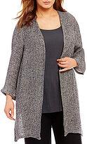 Eileen Fisher Plus Bracelet Sleeve Jacket