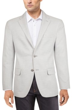 Tommy Hilfiger Men's Modern-Fit Gray/White Houndstooth Check Sport Coat